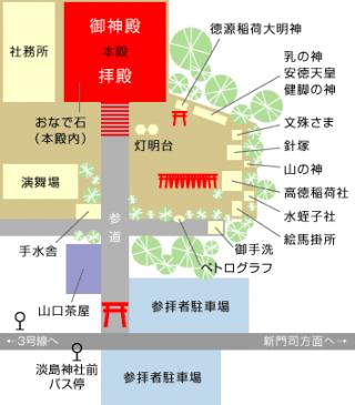 淡島神社 境内配置図